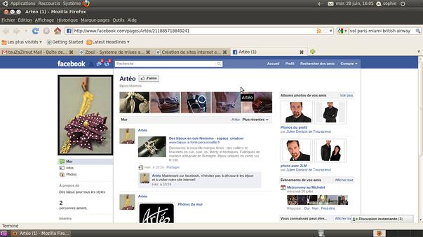 tous sur facebook!