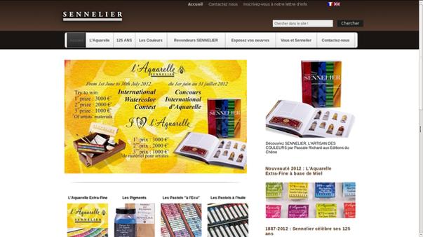le site de sennelier: 125 de couleurs