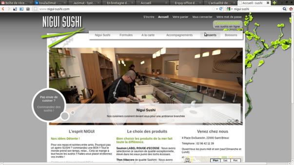 commande drive chez nigui sushi
