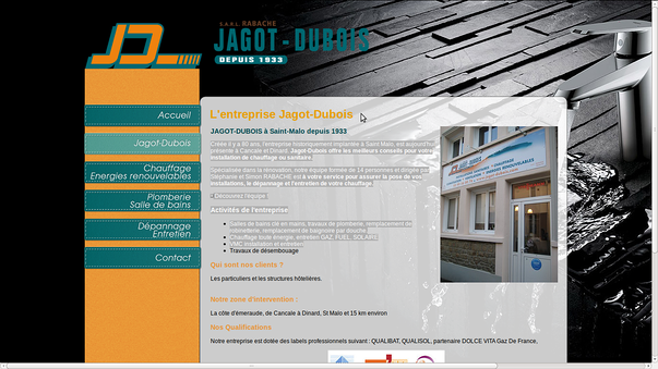 jagot-dubois saint-malo, pour la creation de son site-web