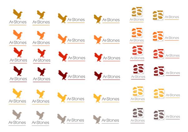 ar-stone : creation de logo et d identite graphique