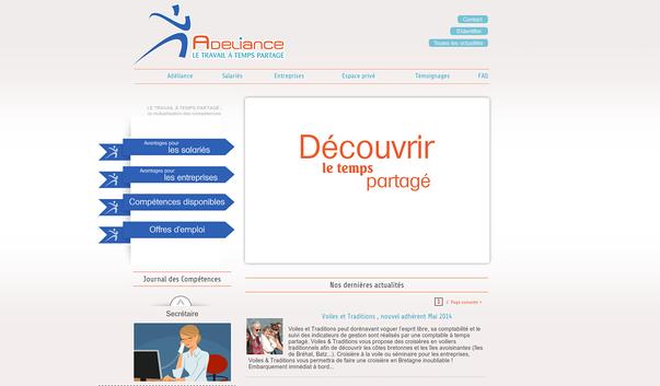 www.adeliance.fr, travail a temps partage en cotes d armor